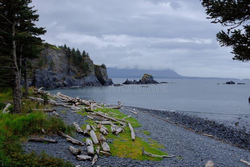Parque histórico del estado de Abercrombie del fuerte, Kodiak imágenes de archivo libres de regalías