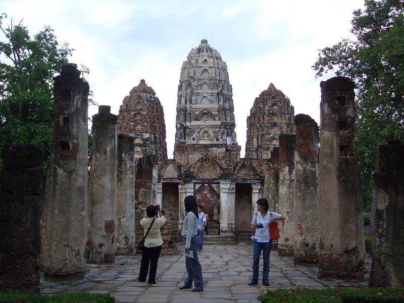 Parque histórico del satchanalai del SI del sawai de Wat SI fotos de archivo libres de regalías