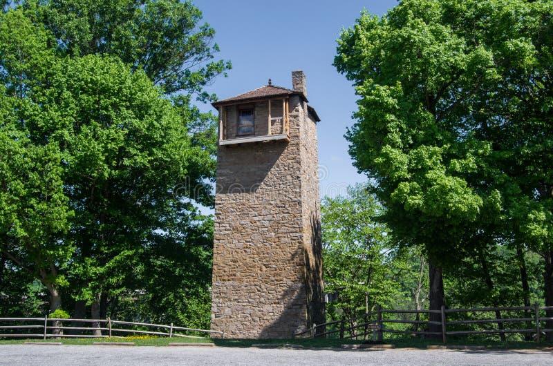 Parque histórico do estado da torre de tiro imagens de stock royalty free