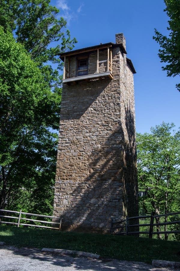 Parque histórico do estado da torre de tiro fotografia de stock
