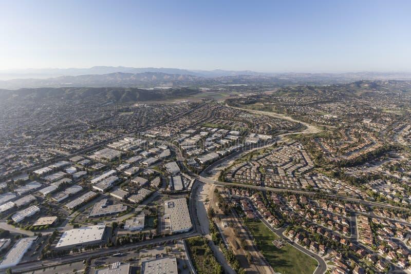 Parque industrial de Camarillo e casas Ventura County California Ae fotos de stock royalty free