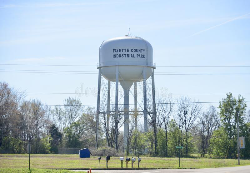 Parque industrial do Condado de Fayette, Somerville, TN fotografia de stock