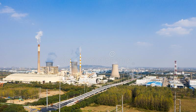 Parque industrial químico de Nanjing Jiangbei imagens de stock royalty free