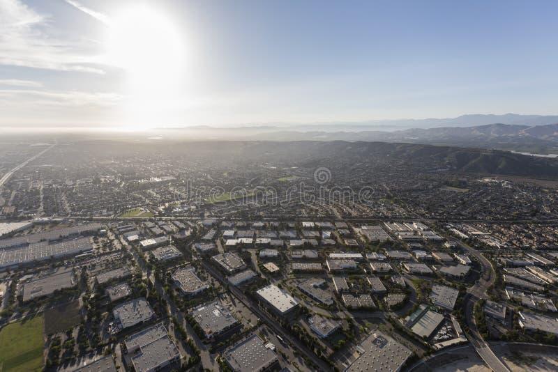 Parque industrial Ventura County California Aerial de Camarillo foto de stock