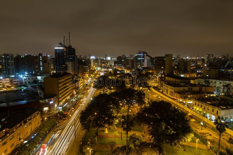 Parque Kennedy par nuit images stock