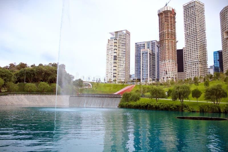 Parque-La Mexicana, mexikanische Parks, See lizenzfreie stockfotografie