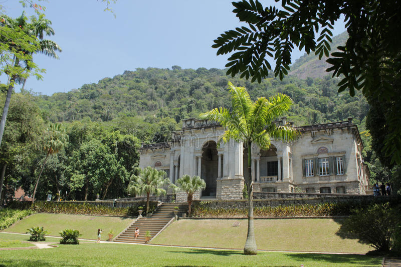 Parque Lage / Lage Park - Rio de Janeiro. Mansion in Parque Lage (in full Parque Enrique Lage), a public park in the city of Rio De Janeiro, Brazil. The Escola stock photography