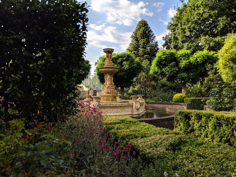 Parque Launceston de la ciudad de la fuente de agua fotos de archivo