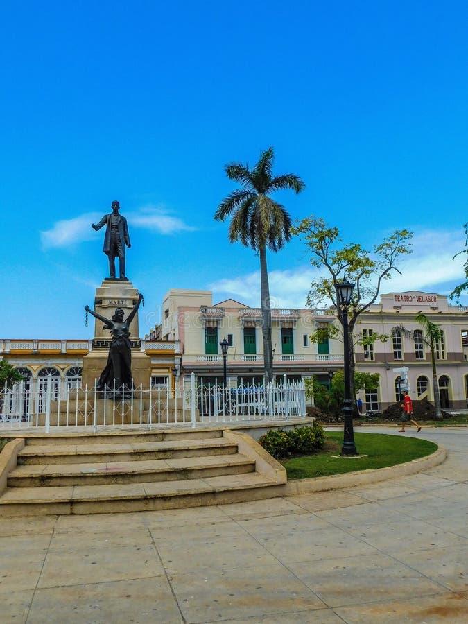 Parque Libertad - Jose Marti staty royaltyfria bilder