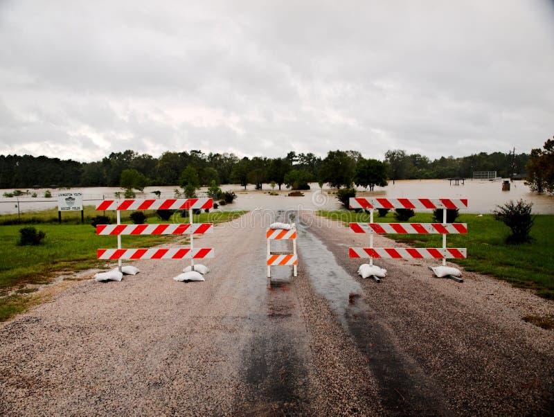 Parque Livingston fechado Texas Flooding Hurricane Harvey de Pedigo fotos de stock royalty free