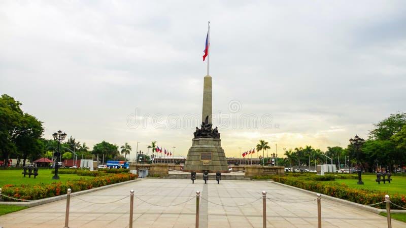 Parque Manila HD de Luneta do monumento de Rizal fotografia de stock royalty free