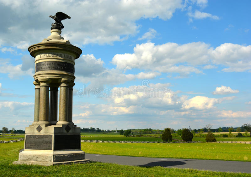 Parque militar nacional de Gettysburg - 075 imágenes de archivo libres de regalías