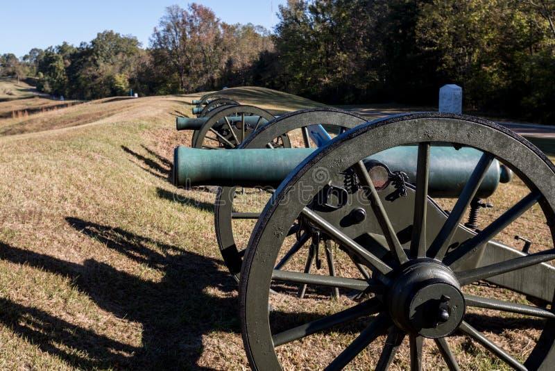 Parque militar nacional de Vicksburg foto de stock