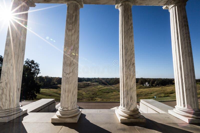 Parque militar nacional de Vicksburg imagen de archivo libre de regalías