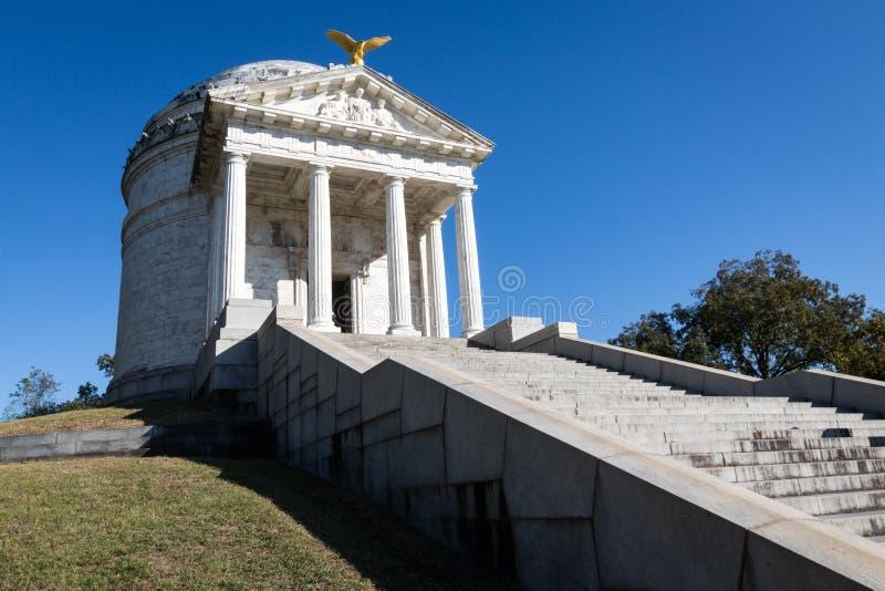 Parque militar nacional de Vicksburg foto de archivo libre de regalías