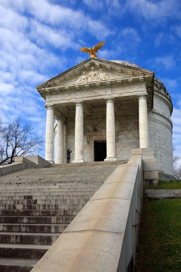 Parque militar nacional de Vicksburg, memorial de Illinois fotos de stock royalty free