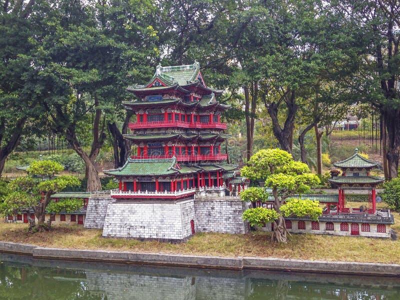 Parque miniatura en China foto de archivo