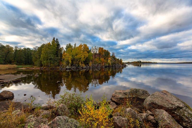 Parque Monrepo em Viborg fotos de stock royalty free