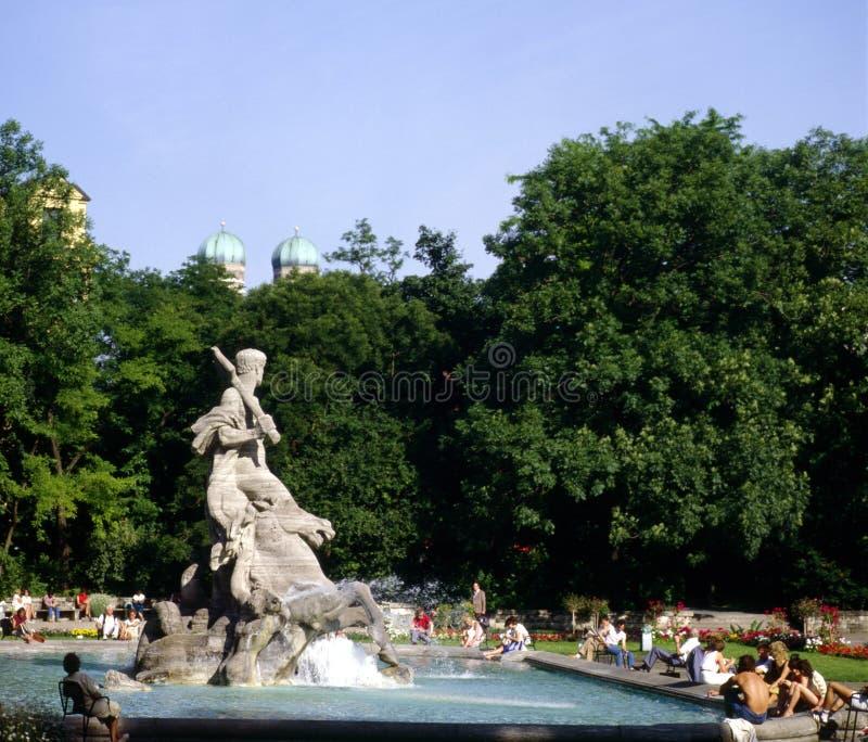 Parque, Munich fotografia de stock royalty free