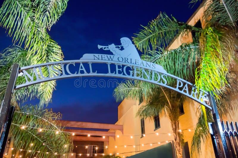Parque musical das legendas de Nova Orleães fotos de stock royalty free