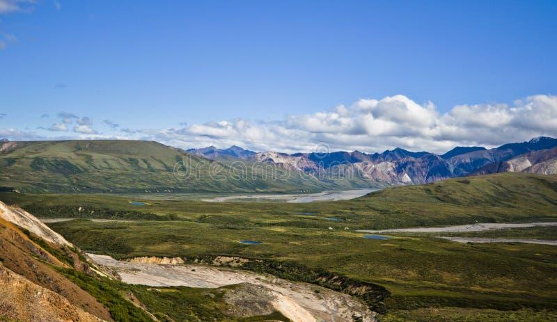 Parque nacional Alaska EUA de Denali imagens de stock