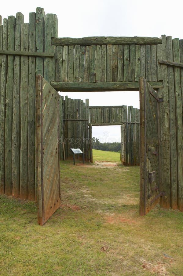 Parque nacional Andersonville o campo Sumter, un sitio histórico nacional en Georgia, sitio de la prisión confederada y del cemen imágenes de archivo libres de regalías