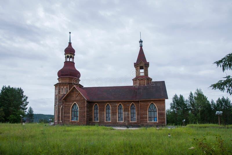 Parque nacional ao norte do Natal ártico da vila da vila ártica de Mohe na barra de St Petersburg fotos de stock