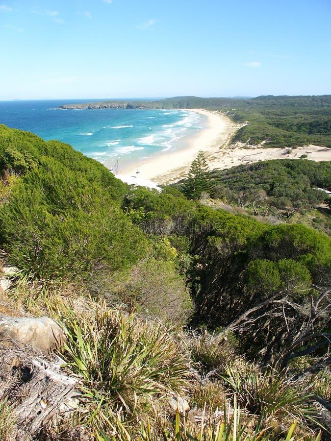 Parque nacional Austrália de Booti Booti foto de stock