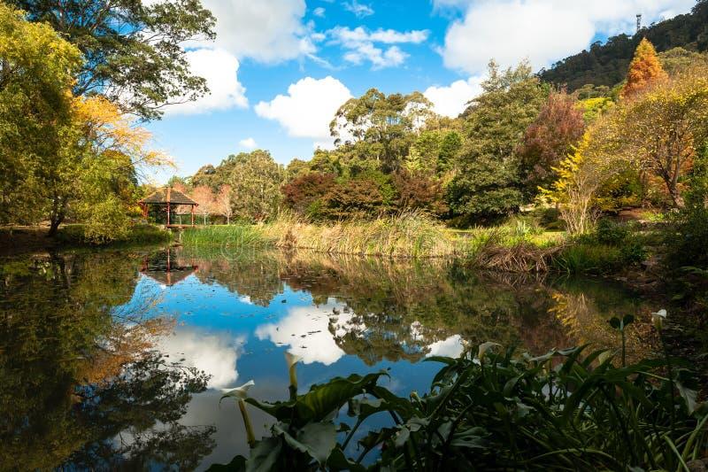 Parque nacional bonito com água claro foto de stock