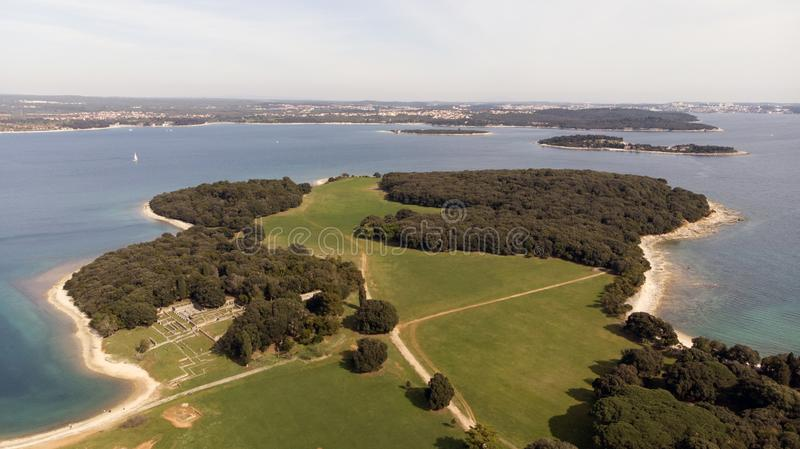 Parque nacional Brijuni imagen de archivo libre de regalías