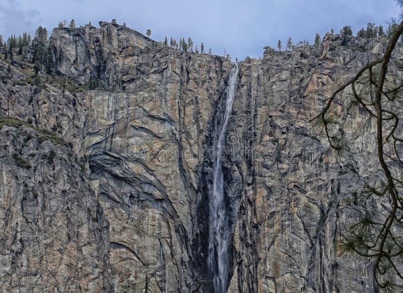 Parque nacional California de Yosemite de la cascada imágenes de archivo libres de regalías