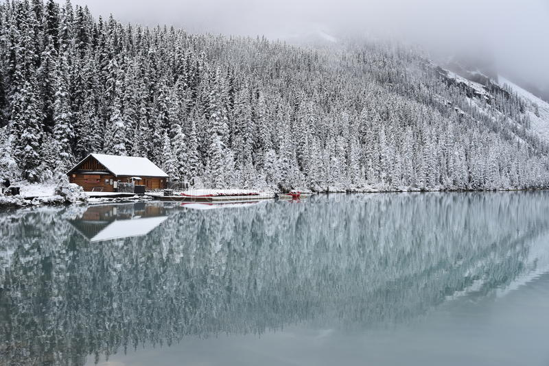 Parque nacional Canadá de Lake Louise banff foto de stock