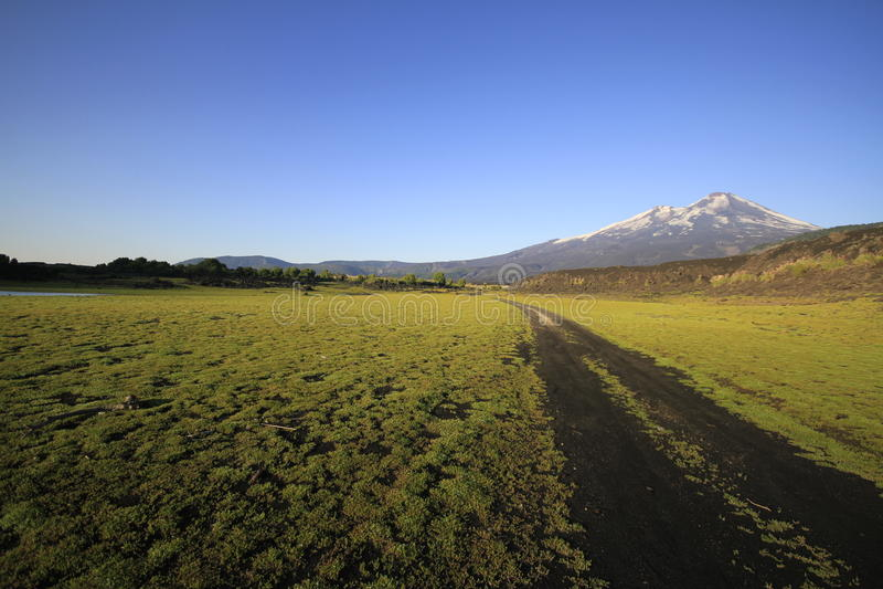 Parque Nacional Conguillo o Chile imagens de stock