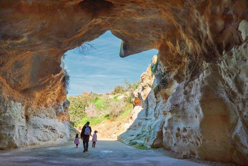 Parque nacional da AR Bet Guvrin da caverna fotografia de stock