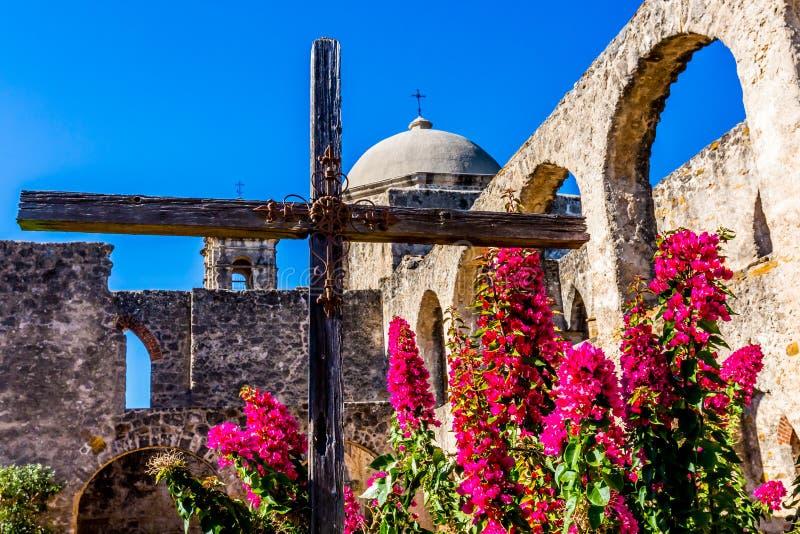 Parque nacional da missão espanhola ocidental velha histórica San Jose, fundado em 1720, fotografia de stock