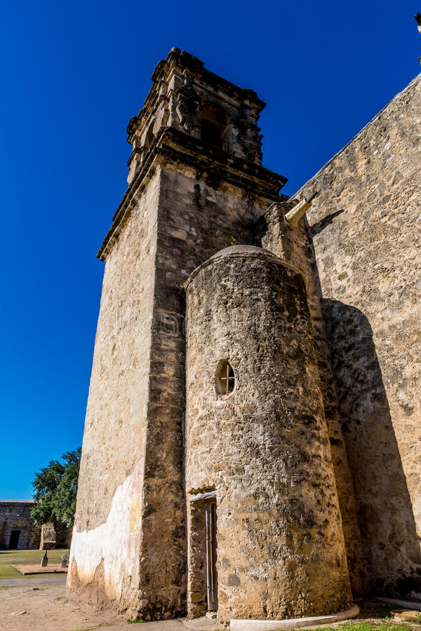 Parque nacional da missão espanhola ocidental velha histórica San Jose, fundado em 1720, imagens de stock royalty free