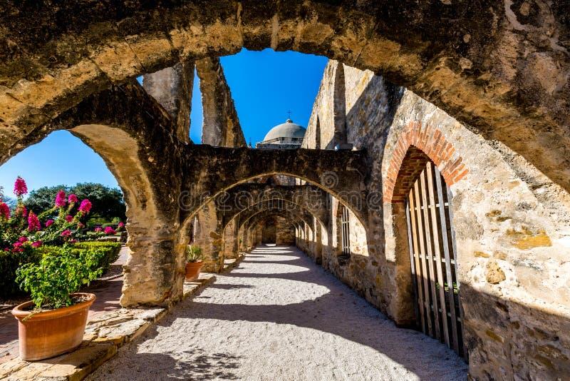 Parque nacional da missão espanhola ocidental velha histórica San Jose, fundado em 1720, imagens de stock