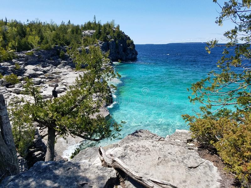 Parque nacional da península de Bruce imagens de stock royalty free