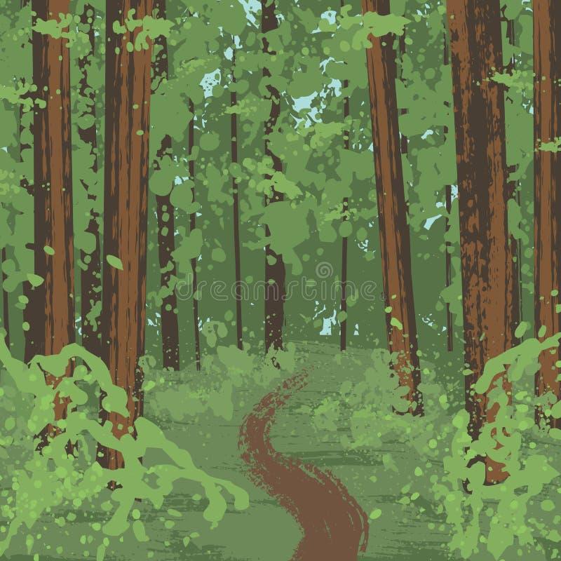 Parque nacional da sequoia vermelha ilustração stock