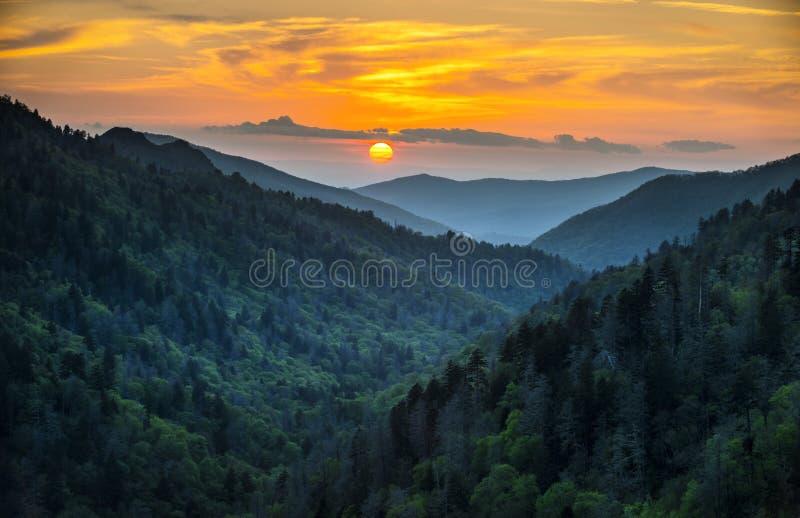 Parque nacional das grandes montanhas fumarentos de Gatlinburg TN fotos de stock royalty free
