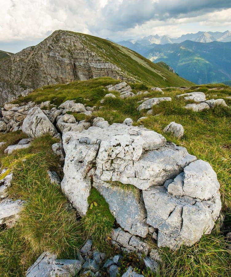Parque nacional das montanhas de Tatra foto de stock