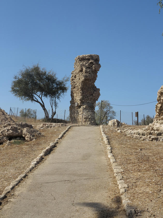 Parque nacional de Ashkelon foto de stock
