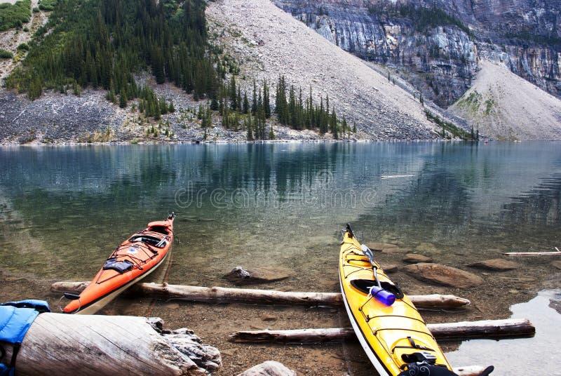 Parque nacional de Banff del lago moraine foto de archivo