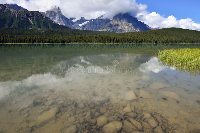 Parque nacional de Banff del lago waterfowl imagen de archivo
