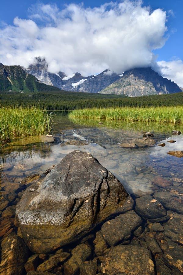 Parque nacional de Banff del lago waterfowl imagen de archivo libre de regalías