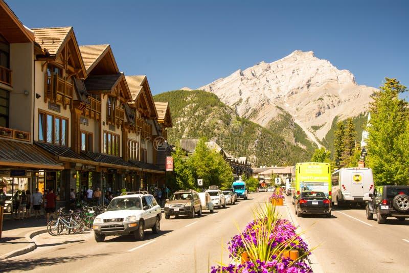 Parque nacional de Banff e de jaspe, montanha rochosa, montanha do túnel foto de stock royalty free