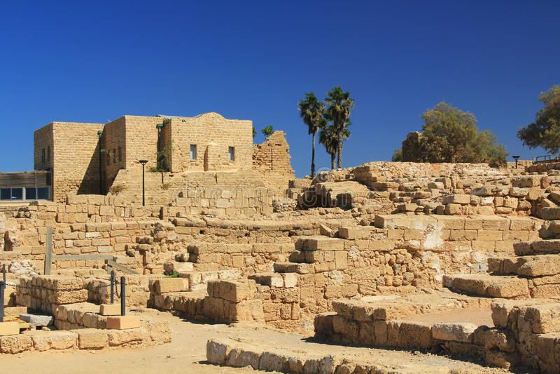 Parque nacional de Caesarea Maritima foto de stock