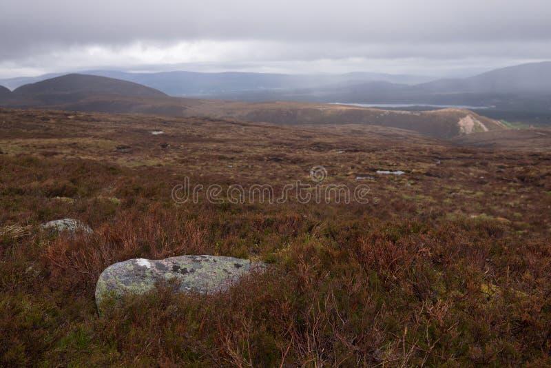 Parque nacional de Cairngorms, tierra fotografía de archivo