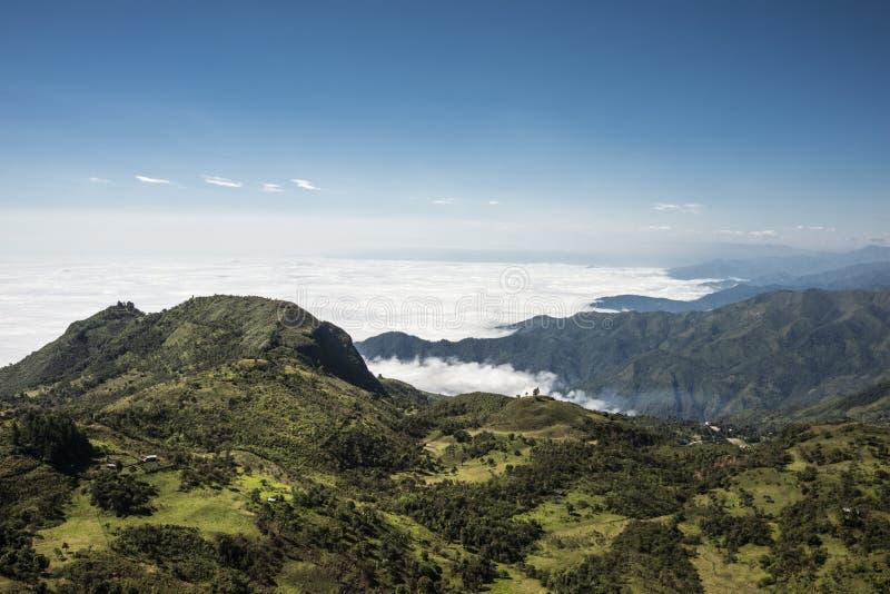 Parque nacional de Cajas, montanhas andinas, Equador imagens de stock