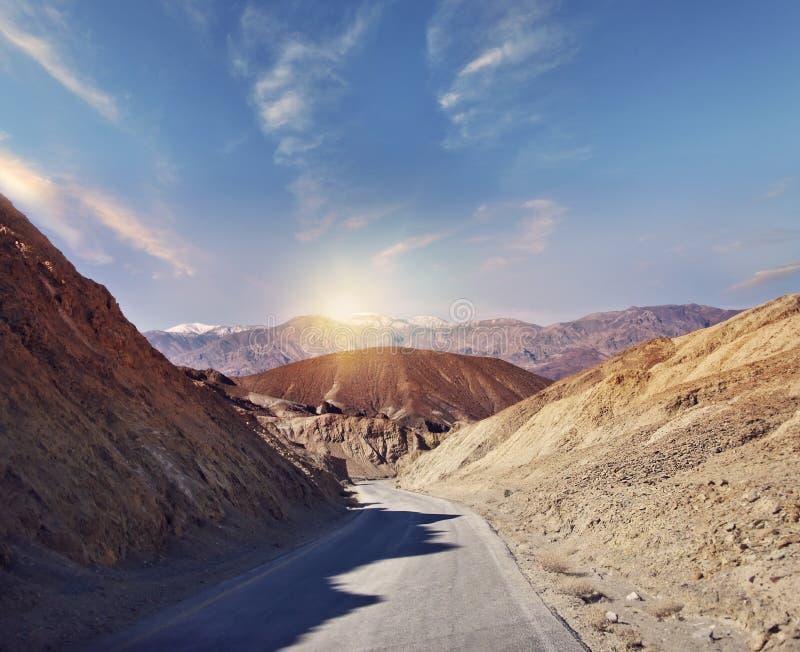 Parque nacional de Death Valley, California, los E La impulsi?n del artista imágenes de archivo libres de regalías